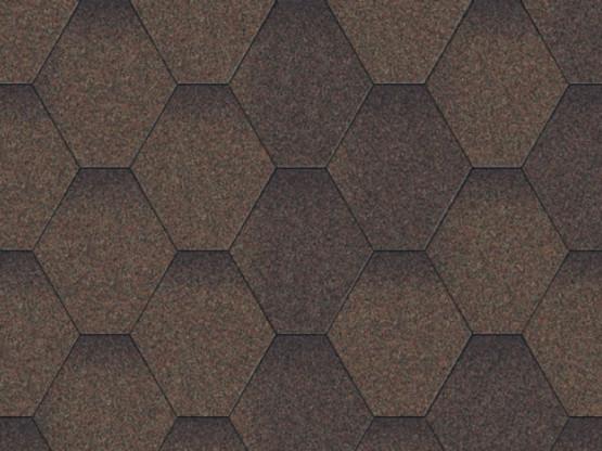 Фото 1: битумная черепица aquaizol мозаика - коричневый микс