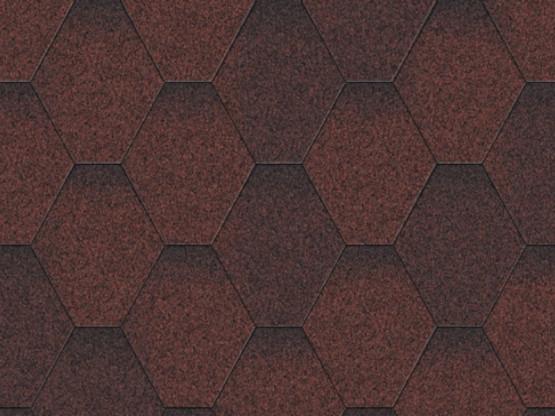 Фото 1: битумная черепица aquaizol мозаика - красный микс
