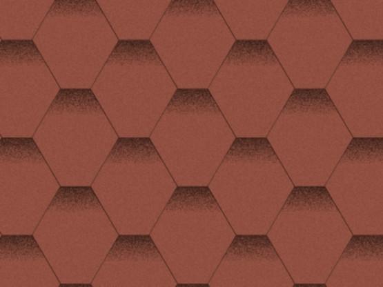 Фото 1: битумная черепица aquaizol мозаика - красный мак