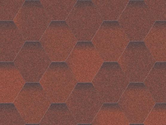 Фото 1: битумная черепица aquaizol мозаика - огненная лава