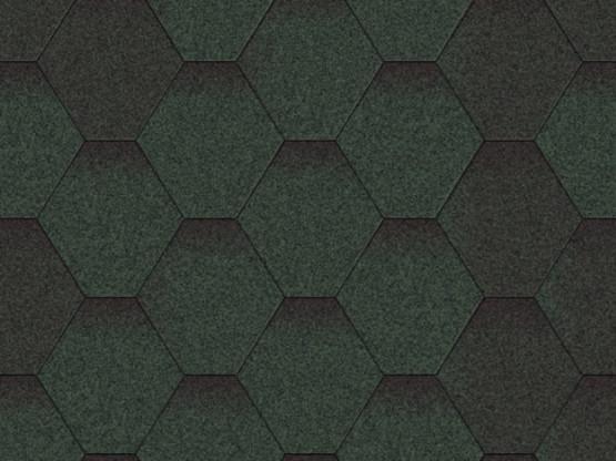 Фото 1: битумная черепица aquaizol мозаика - зеленый микс