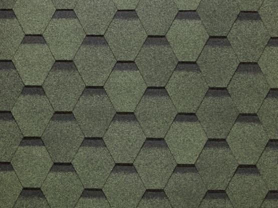 Фото 1: битумная черепица döcke europa карат - зеленый