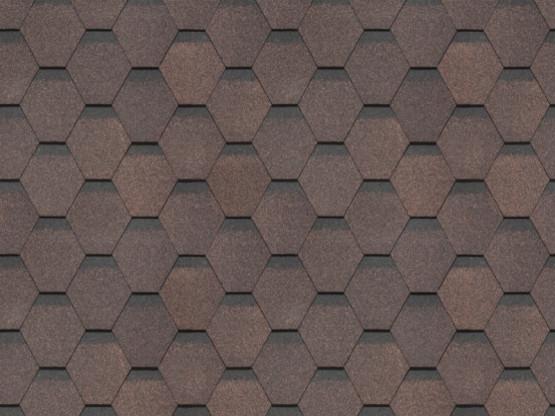 Фото 1: битумная черепица döcke standart сота - коричневый