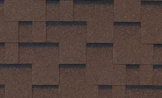Фото 1: битумная черепица roofshield family light модерн - коричневый с оттенением