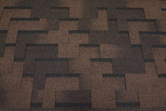 Фото 1: битумная черепица roofshield family eco light модерн - коричневый с оттенением