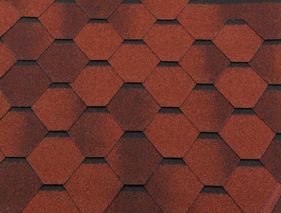 Фото 1: битумная черепица roofshield классик стандарт - кирпично-красный антик