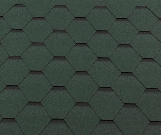 Фото 1: битумная черепица roofshield классик стандарт - зеленый с оттенением