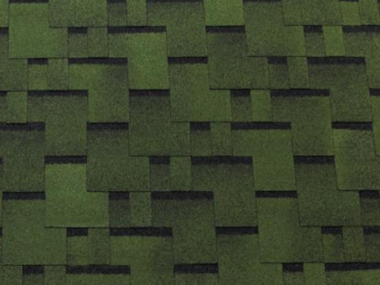 Фото 1: битумная черепица tegola top shingle futuro - зеленый