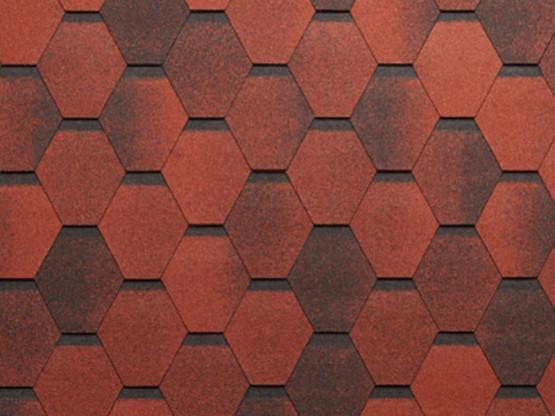 Фото 1: битумная черепица tegola super mosaik - красный гранит