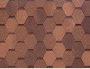 Фото: Tegola Nobile Tile Вест - Красно-коричневый
