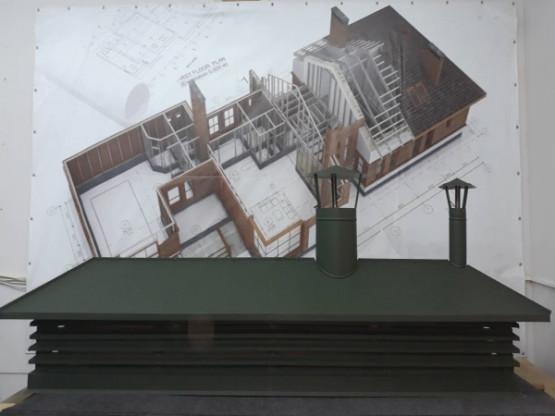 Фото 1: колпак на дымоход люкс с врезкой 510х1800