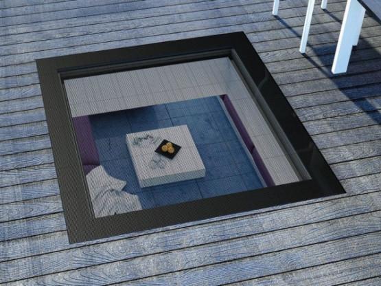 Фото 1: окно для плоской кровли fakro dxw 80х80