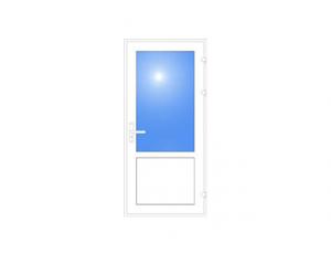 Фото: Входная дверь ПВХ Open Teck De-lux 60 одностворчатая 2100х950 (многоточечный замок)