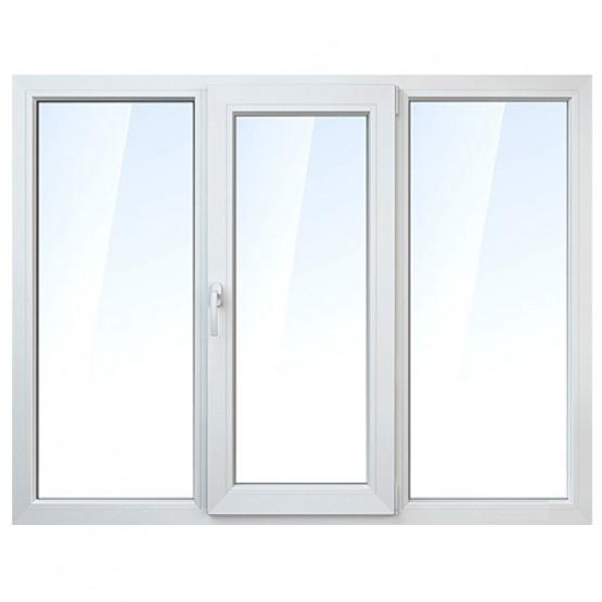 Фото 1: вікно пвх rehau 60 трьохстулкове поворотно-відкидне 1400х2100