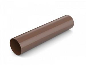 Фото: Водосточная труба 3 м Bryza 100/90 коричневый
