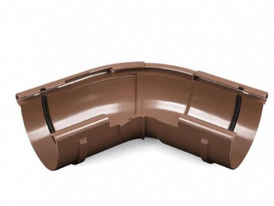 Фото: кут жолоба регульований bryza 150/110 коричневий
