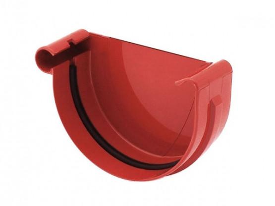 Фото: заглушка желоба левая bryza 150/110 красный