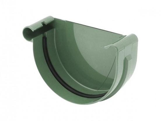 Фото: заглушка желоба левая bryza 75/63 зеленый