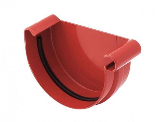 Фото: заглушка желоба правая bryza 125/90 красный