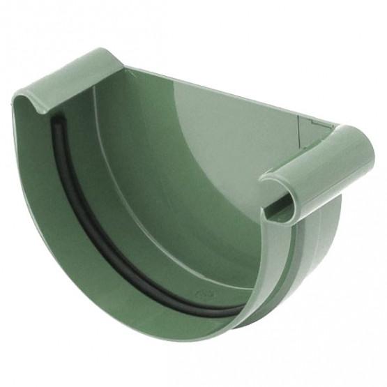 Фото: заглушка желоба правая bryza 125/90 зеленый