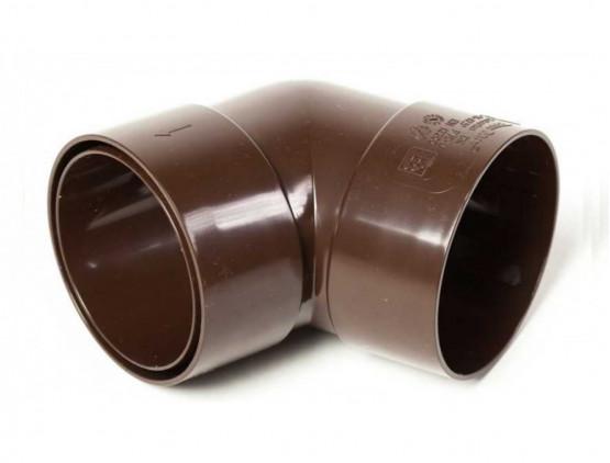 Фото 1: коліно з двома розтрубами 87,5 ° proaqua 100/90 коричневий