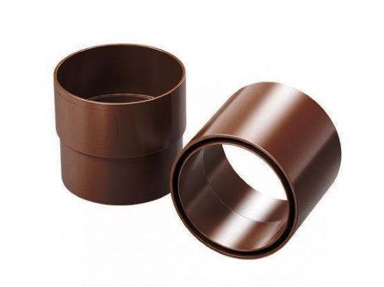 Фото 1: муфта водосточной трубы proaqua 100/90 коричневый
