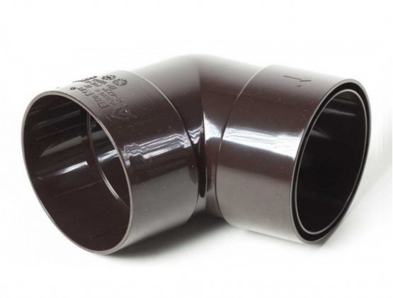 Фото 1: коліно з двома розтрубами 87,5 ° proaqua 150/110  темно-коричневий
