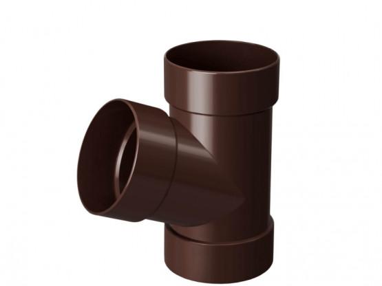 Фото 1: тройник rainway 130/100 коричневый