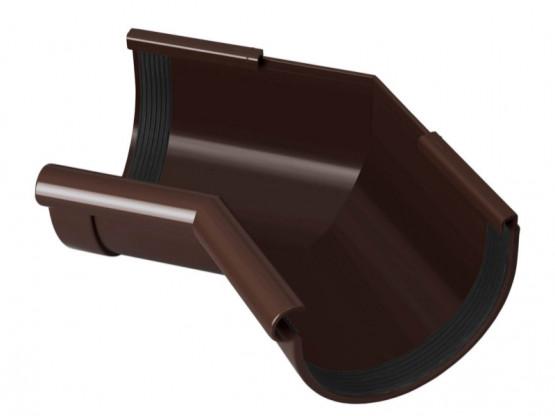 Фото 1: угол желоба внутренний 90° rainway 130/100 коричневый