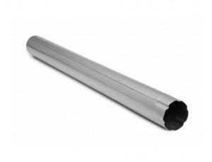 Фото: Водосточная труба 1 м Struga 125/90 серебристый металлик