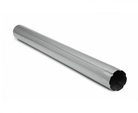 Фото 1: водостічна труба 3 м struga 125/90 сріблястий метеллік