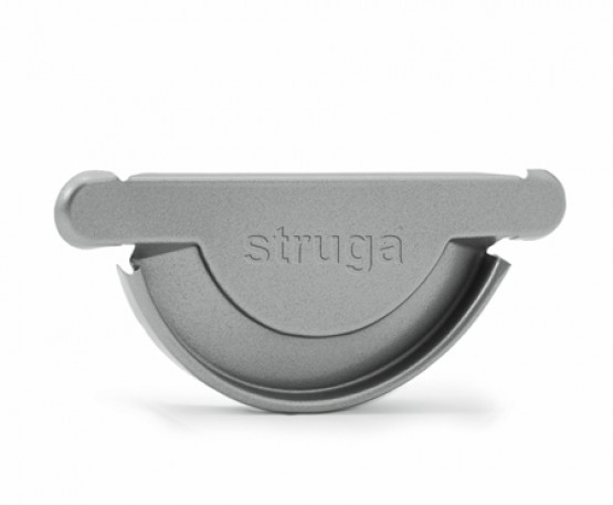 Фото 1: заглушка желоба универсальная struga 135/100 серебристый металлик