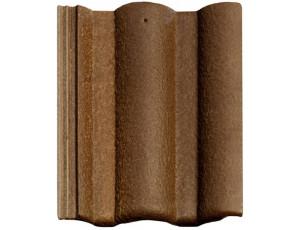 Фото: Цементно-песчаная черепица BRAAS Адрия Slury коричневый