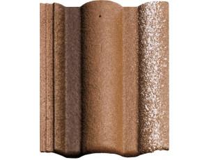 Фото: Цементно-песчаная черепица BRAAS Адрия Slury коричнево-золотой