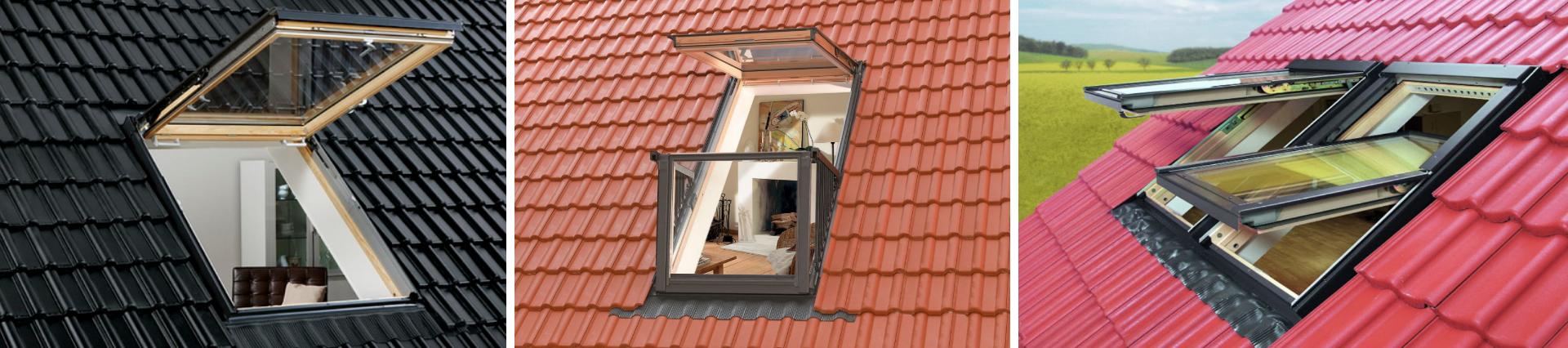 Мансардні вікна на покрівлі